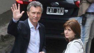 El presidente Macri y la ministra Bullrich.
