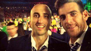 Los nervios de Manu Ginóbili que arengó a Delpo y le mandó un mensaje a Federer