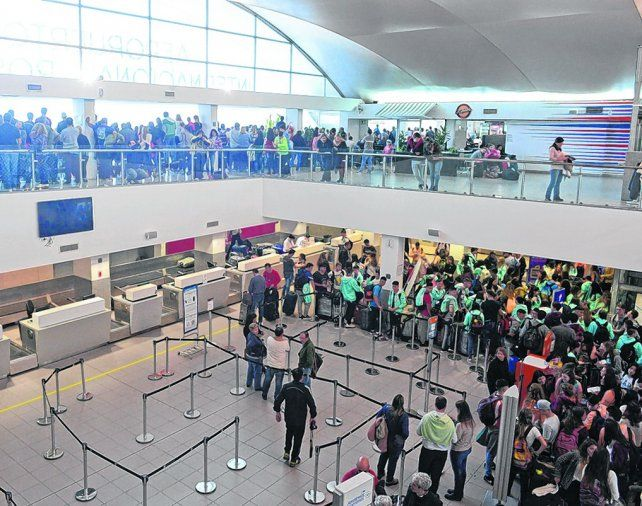 saturado. Una imagen reciente del aeropuerto local