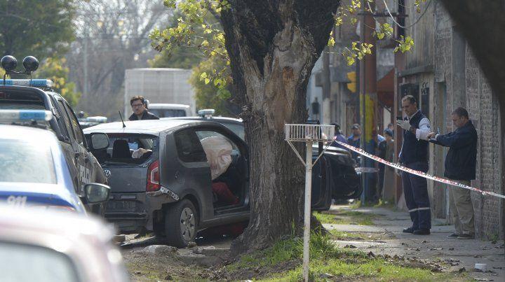 Arijón y Cazadores. El automóvil donde iban las víctimas.