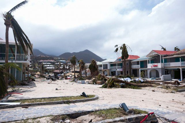 Arrasador. Imágenes del paso del huracán Irma por la isla de Saint Martin.
