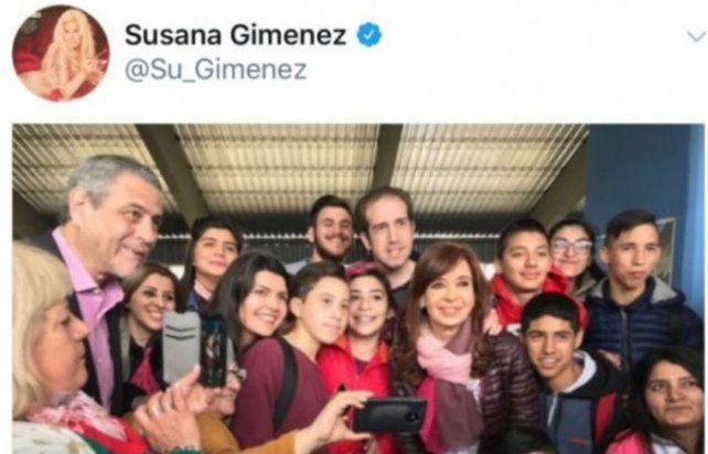 La polémica foto que apareció en el Twitter oficial de Susana Giménez