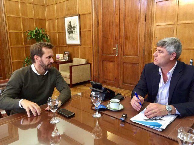 Intercambio. El concejal valoró las iniciativas del titular de Agroindustria.