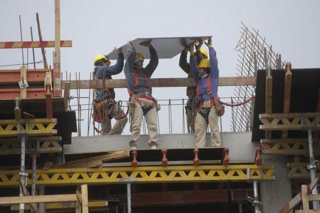 Construcción. El rubro creció en los dos primeros trimestres de 2017 a una tasa superior al 7