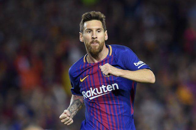 Leo volvió a brillar con la camiseta del Barsa.