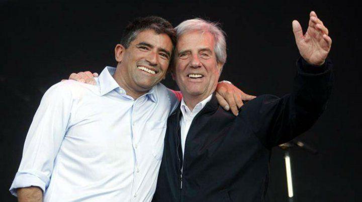 Raúl Sendic y el presidente Tabaré Vázquez.