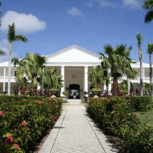 El ingreso al hotel de Saint Martin.