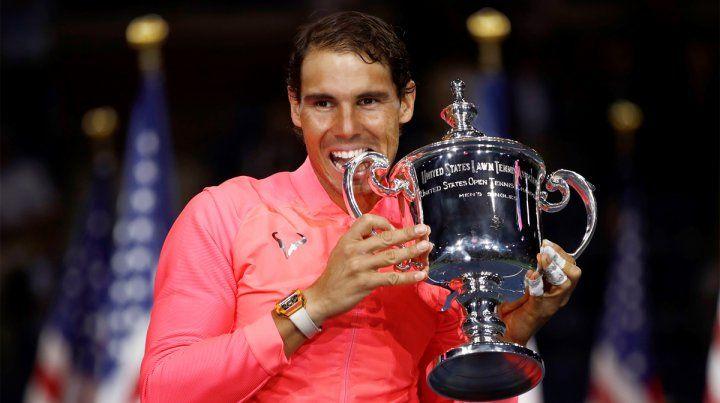 Campeón. Rafael Nadal aplastó a Kevin Anderson y se consagró en el US Open.