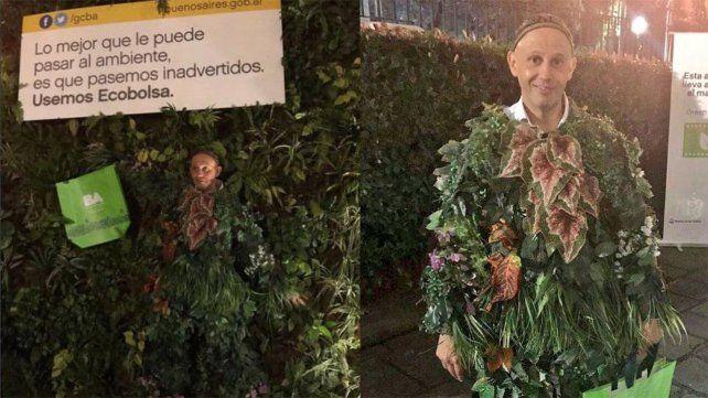 Un rosarino acecha al ministro planta