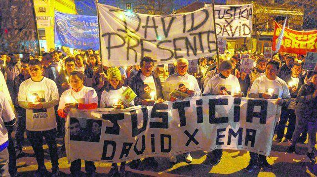 Reclamo. David Campos y Emanuel Medina fueron asesinados el pasado 23 de junio. Un policía está acusado de el doble crimen y otros 17 de encubrirlo.