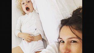 El tierno video de Pampita para entretener a su hijo Benicio que no tuvo clases