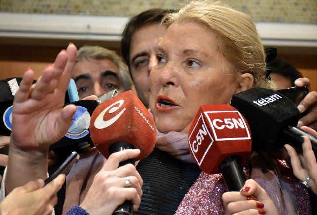 La diputada nacional Elisa Carrió disparó contra el kirchnerismo.