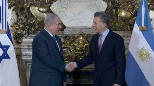Macri recibió en la Casa Rosada a Benjamín Netanyahu, el primer ministro de Israel