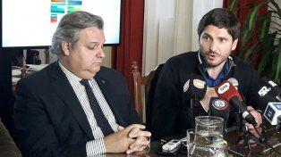 Pullaro junto al ministro de Gobierno Pablo Farías. (Foto: gentileza diario Uno Santa Fe)