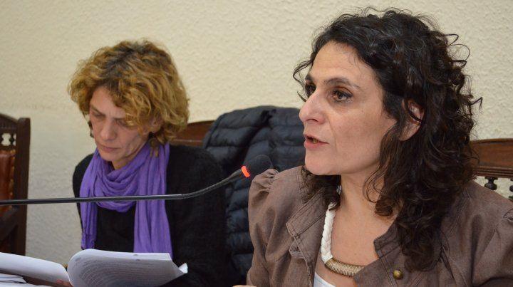 La edil Norma López.