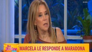 maradona hizo de su vida un vomito, dijo marcela tynare para defender a mirtha