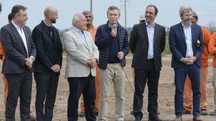 El presidente Mauricio Macri y Miguel Lifschitz compartieron un acto en Rafaela.