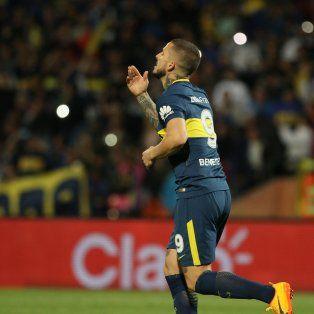 Benedetto festeja. El próximo rival xeneize en la Copa Argentina es el canalla.