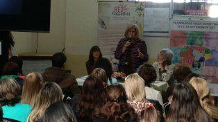 La ministra de Educación estuvo en el Cossettini.
