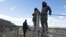 La comunidad Pu Lof en el departamento Cushamen, provincia de Chubut, donde desapareció Santiago Maldonado el 1° de agosto pasado.