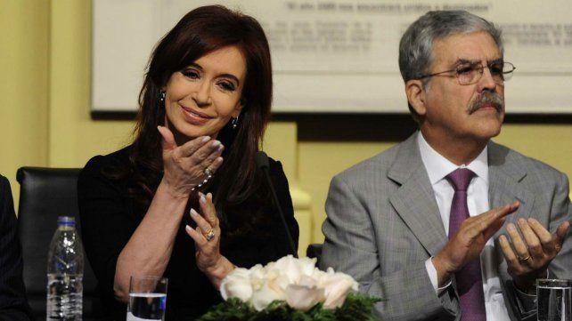 La expresidenta Cristina Fernández de Kirchner y el exministro de Planificación Federal