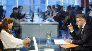 La exmandataria se entrevistó con el periodista Luis Novaresio.