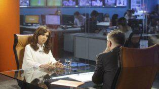 Cara a cara. La ex presidenta fue entrevistada por el periodista rosarino Luis Novaresio