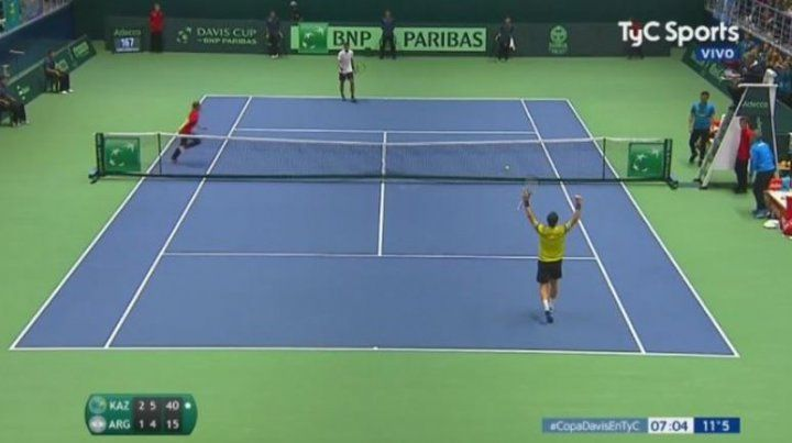 Pella perdió en el primer punto del repechaje de la Copa Davis y ahora juega Schwartzman