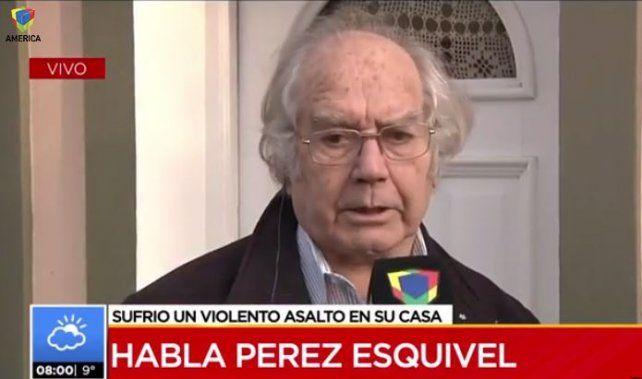 Pérez Esquivel sintió que el violento asalto que sufrió podría ser un mensaje para él