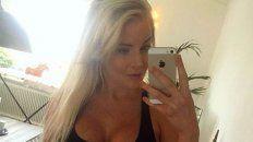la sueca larsson anuncio con una foto muy sensual que esta embarazada