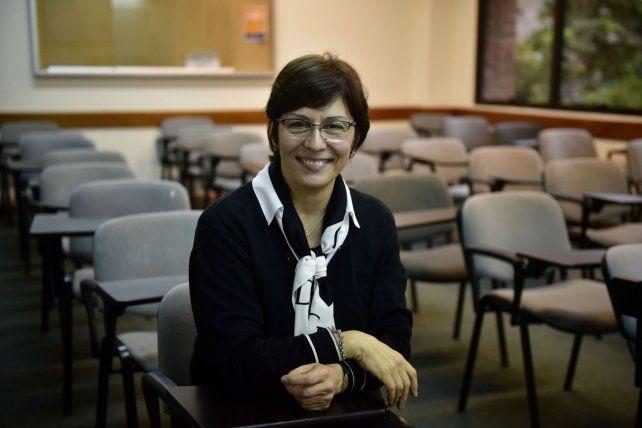 La educadora Mariana Facciola disertó en la UCA Rosario en las jornadas sobre proyectos inclusivos.