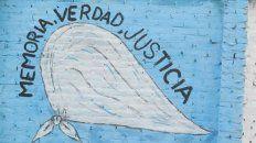 Mural por la memoria, la verdad y la justicia.