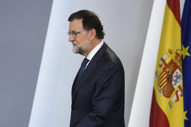 Línea dura. El jefe del gobierno español también mandó a la Guardia Civil a allanar imprentas catalanas.