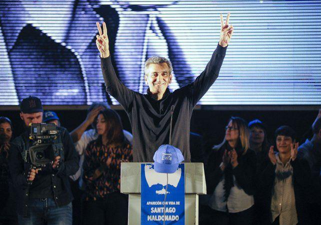 Candidato. Randazzo relanzó la campaña con un acto peronista.