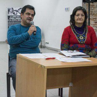 Raúl Llaneza, Pablo Peñalva y Cynthia Pok, de la junta interna de ATE - Indec, estuvieron en Rosario.