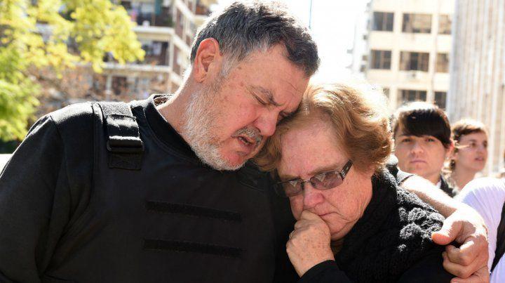 Alberto Perassi y su esposa.