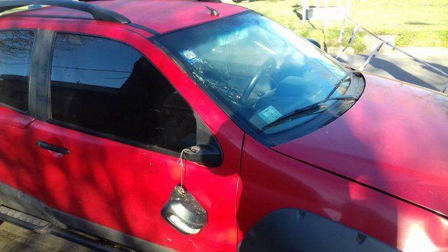 El vehículo involucrado en el accidente.