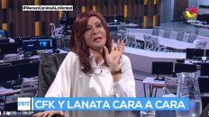 lanata se dio el gusto de entrevistar a cristina que lanzo nuevos cantitos contra macri