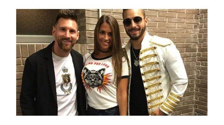 Las fotos de Lionel Messi, Antonela Roccuzzo y sus amigos que fueron a ver a Maluma