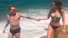 las fotos de silvina luna y el polaco que pasean enamorados por las playas de brasil