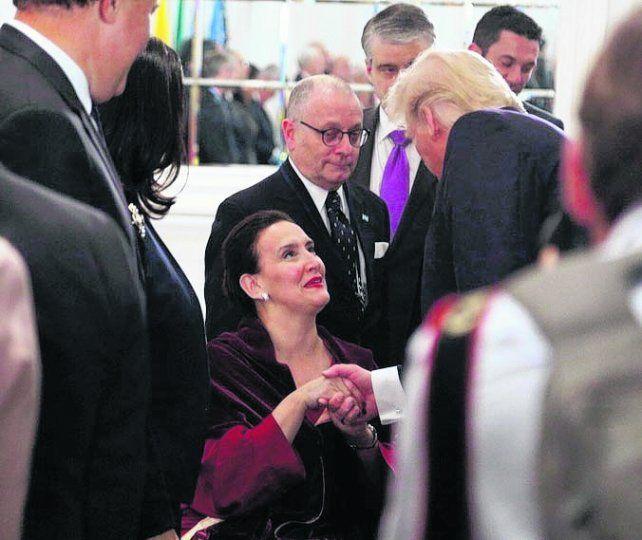 saludo. Michetti compartió una cena con el presidente de Estados Unidos.