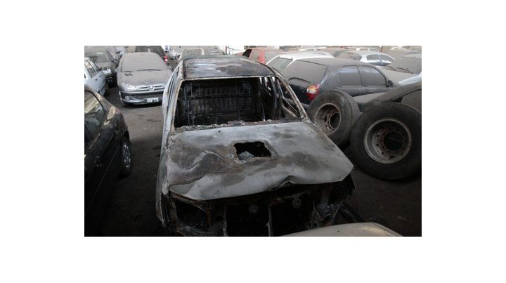 quemada. La camioneta de la víctima fue hallada calcinada tras el crimen.