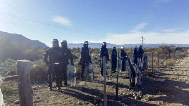Hubo un gran despliegue de fuerzas federales en el predio de la comunidad mapuche.