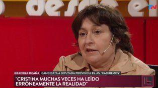 Cristina no puede responder sobre la corrupción de sus funcionarios, dijo Graciela Ocaña