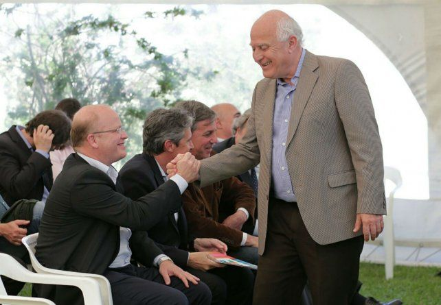 El candidato a diputado nacional Luis Contigiani y el gobernador Lifschitz
