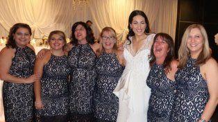 Seis mujeres coincidieron con el mismo vestido en una fiesta de casamiento