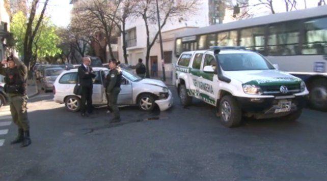 La mujer que conducía el Chevrolet Corsa afirmó que Gendarmería circulaba a gran velocidad.