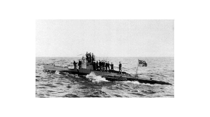Mar del norte. Imagen de archivo de un UB-2 utilizado por Alemania.