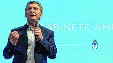 discurso. El presidente Macri aludió al caso Maldonado durante una reunión del gabinete ampliado.