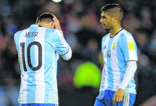 Fuera de sintonía.El tándem Messi-Banega no funcionó frente a Venezuela por la muy precaria prestación del futbolista de Sevilla de España. Seguramente Ever tendrá otra oportunidad ante Perú.